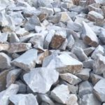 White quartizte irregular small blocks for masonry